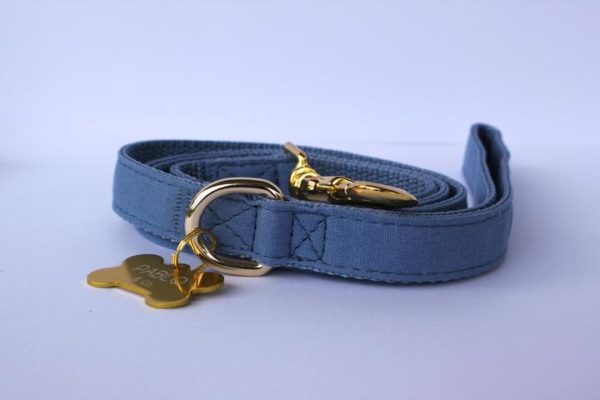 Pablo & Co. Dog Denim Leash in Blue - D-ring
