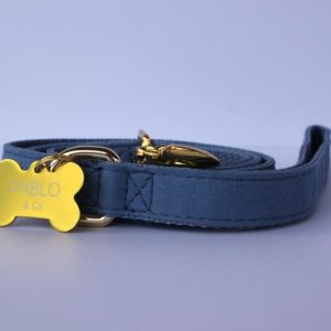 Pablo & Co. Dog Denim Leash in Blue - Front