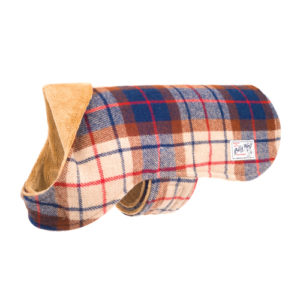Billy Wolf Plaid Porter Dog Coat - Side