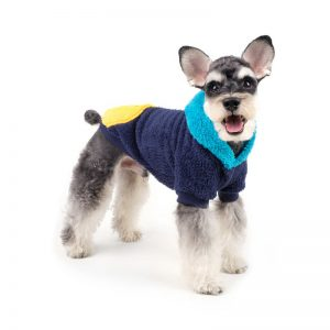 Charlie's Backyard Teddy Dog Sweater Fleece Hoodie in Blue - Side