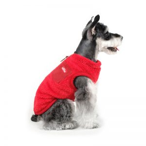 Charlie's Backyard Teddy Dog Vest With Pocket in Red - Side