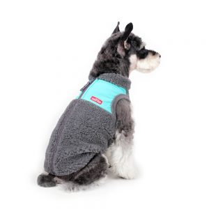 Charlie's Backyard Teddy Dog Vest in Grey - Back