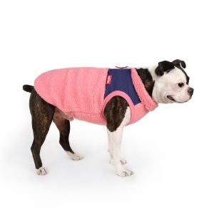 Charlie's Backyard Teddy Dog Vest in Pink - Side