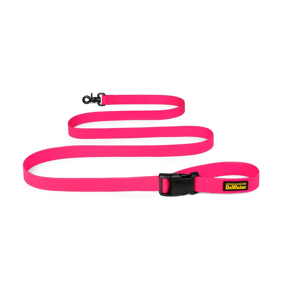 Charlie's Backyard DeWater Dog Leash - Pink