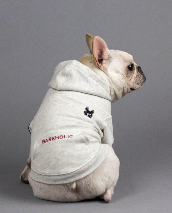 Barkholic Dog Hoodie in Cotton Candy - Back