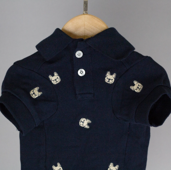 Barkholic Dog Polo Shirt in Detail