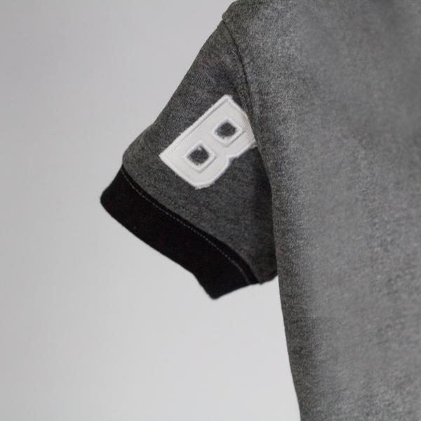 Barkholic Dog Sweater Hoodie in Gray - Detail