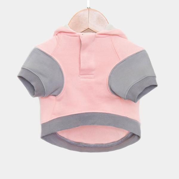 Barkholic Dog Sweater Hoodie Lena in Pink - Front