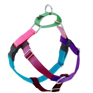 2 Hounds Design Jellybean Freedom Dog Harness in Sugar - Front