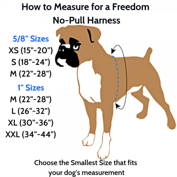 2 Hounds Design Jellybean Freedom Dog Harness - Size Chart