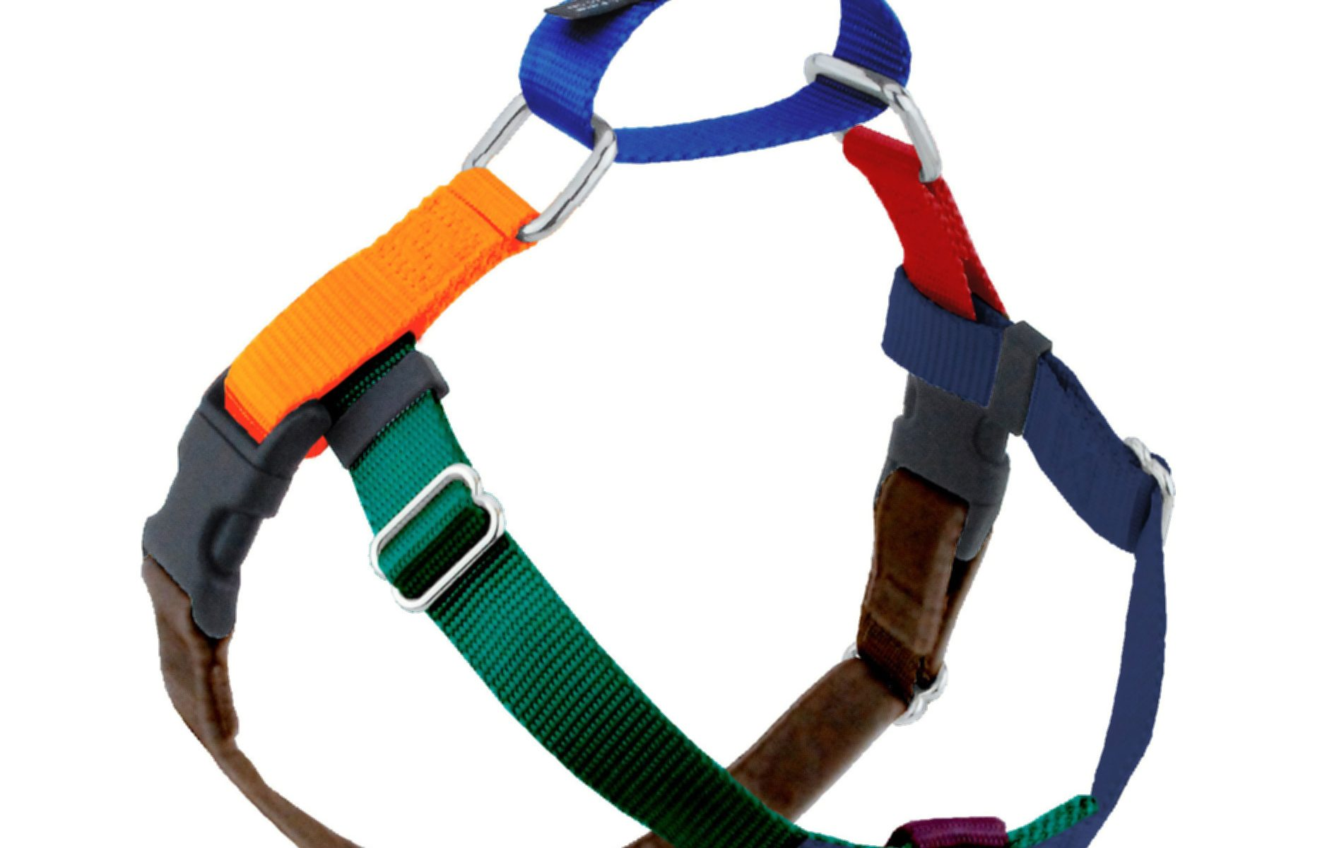 2 Hounds Design Jellybean Freedom Dog Harness in Spice - Front